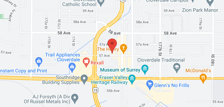 map of 74 17555 57A AVENUE