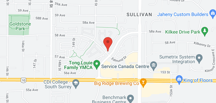 map of 51 15065 58 AVENUE