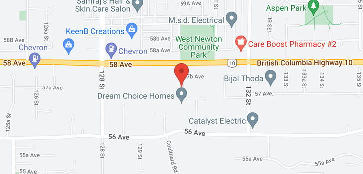 map of 5760 130 STREET