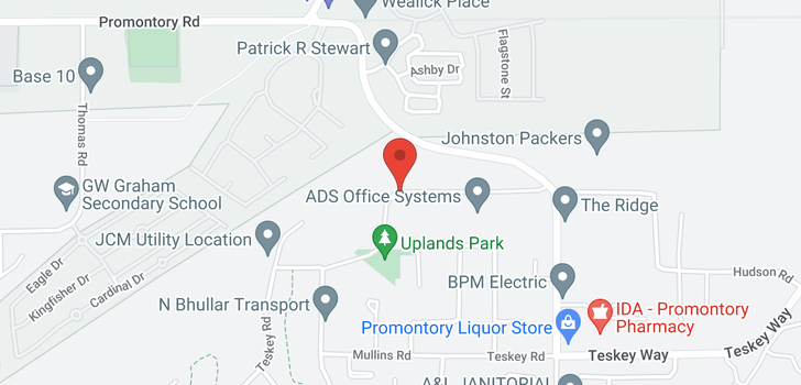 map of 46358 UPLANDS ROAD