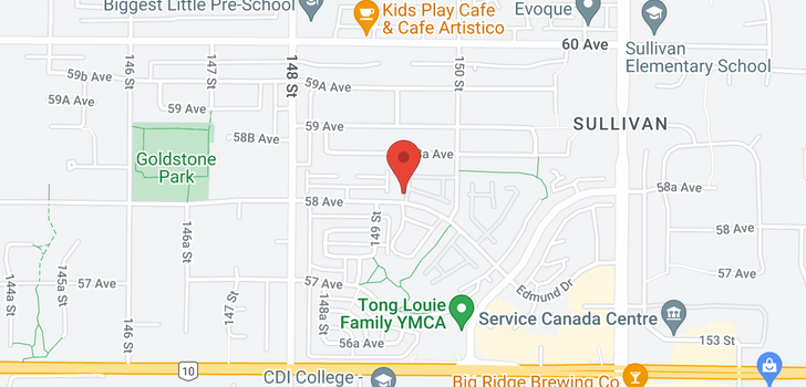 map of 22 14959 58 AVENUE