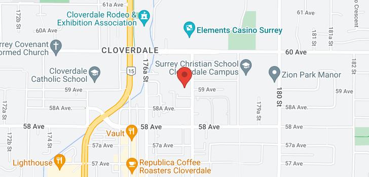 map of 101 5909 177B STREET