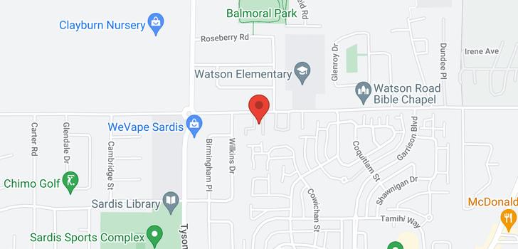 map of 206 45222 WATSON ROAD