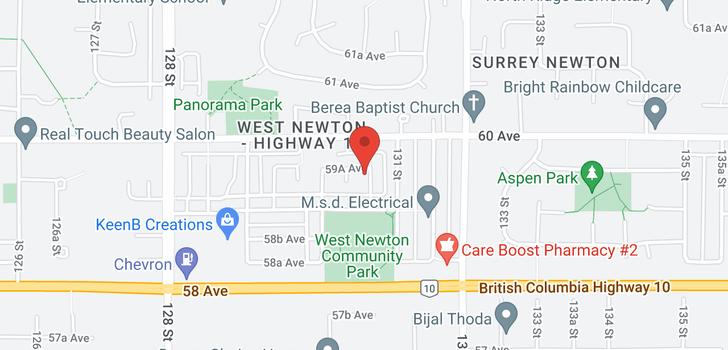 map of 13066 59A AVENUE