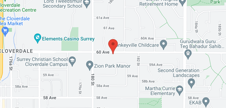 map of 18088 60 AVENUE