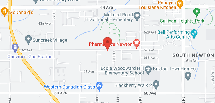 map of 14030 62 AVENUE