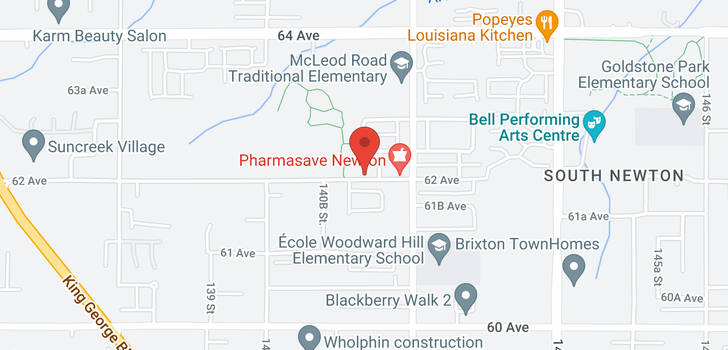 map of 14151 62 AVENUE