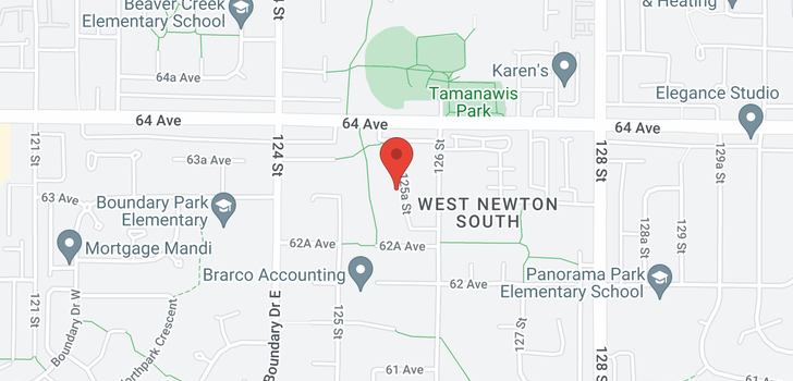 map of 6319 125A STREET