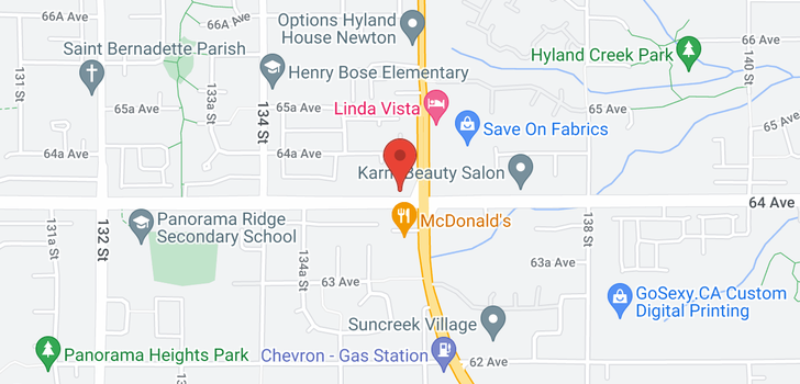 map of 13545 64 AVENUE