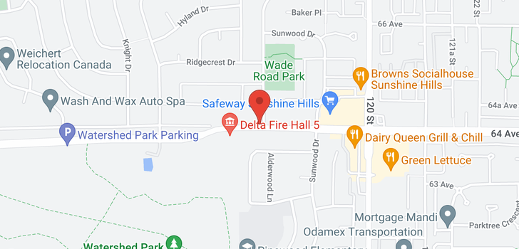map of 11796 64 AVENUE