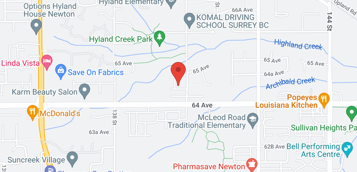 map of 6452 139A STREET