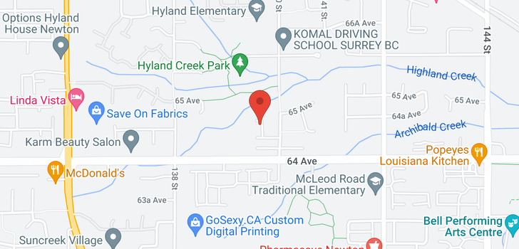 map of 6493 139A STREET