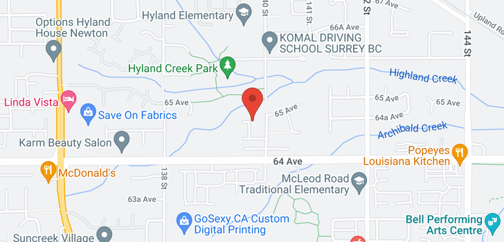 map of 6482 139A STREET