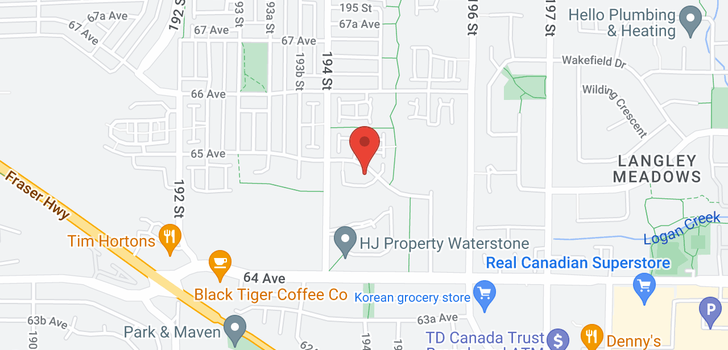 map of 39 19478 65 AVENUE