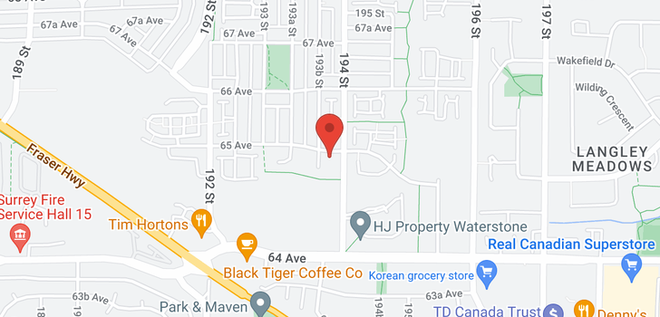 map of 107 19388 65 AVENUE