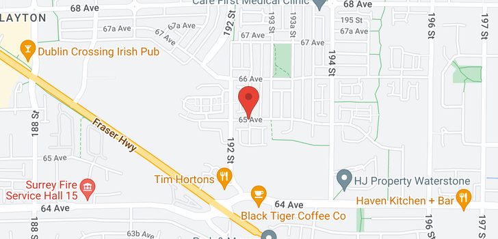 map of 40 19250 65 AVENUE