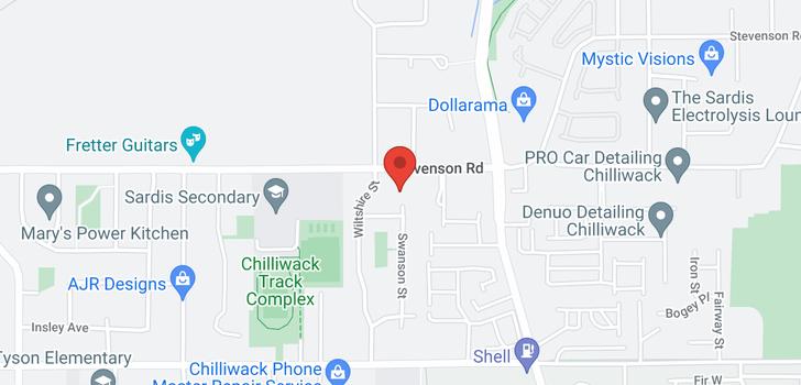 map of 6612 SWANSON STREET