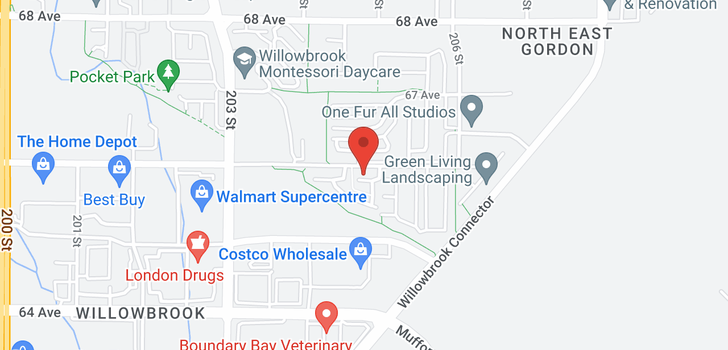 map of 64 20460 66 AVENUE