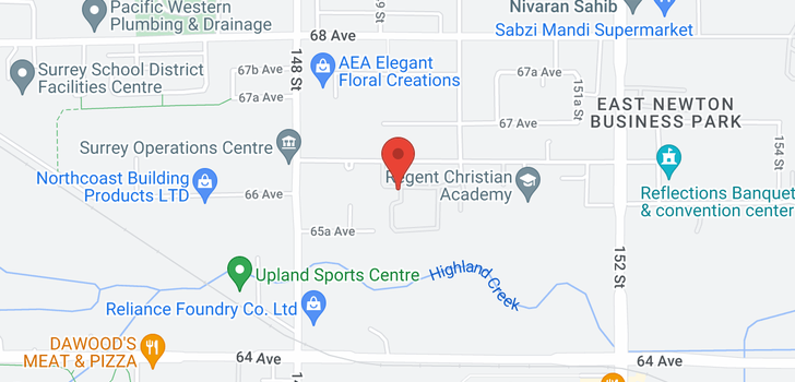 map of 52 15020 66A AVENUE