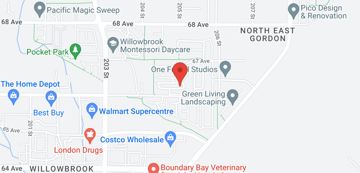 map of 111 20449 66 AVENUE