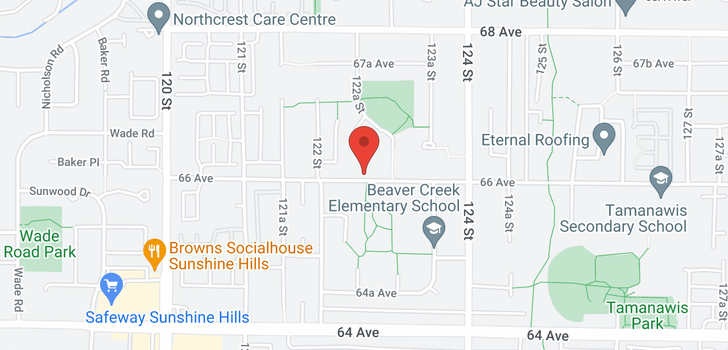 map of 12269 66 AVENUE