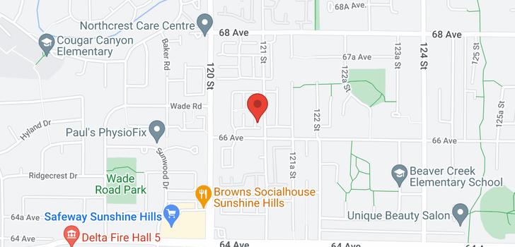 map of 63 6671 121 STREET