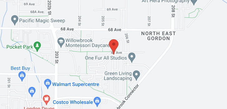map of 20508 67 AVENUE