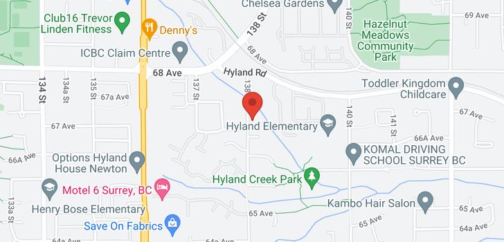 map of 6702 138 STREET