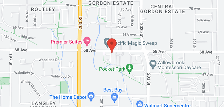 map of 25 20120 68 AVENUE