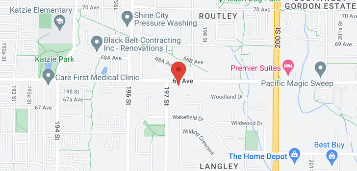 map of 19726 68 AVENUE