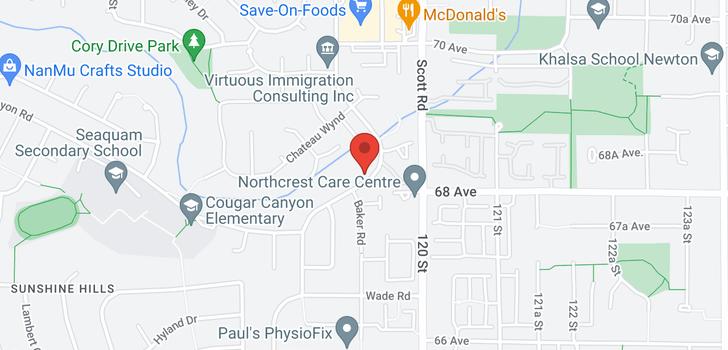 map of 6835 NICHOLSON ROAD