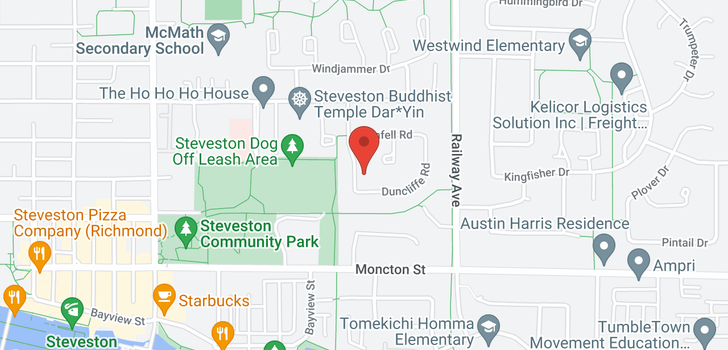 map of 11888 DUNFORD ROAD