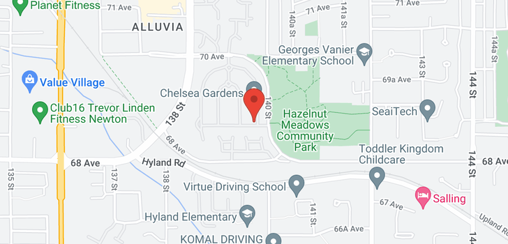 map of 119 13888 70 AVENUE