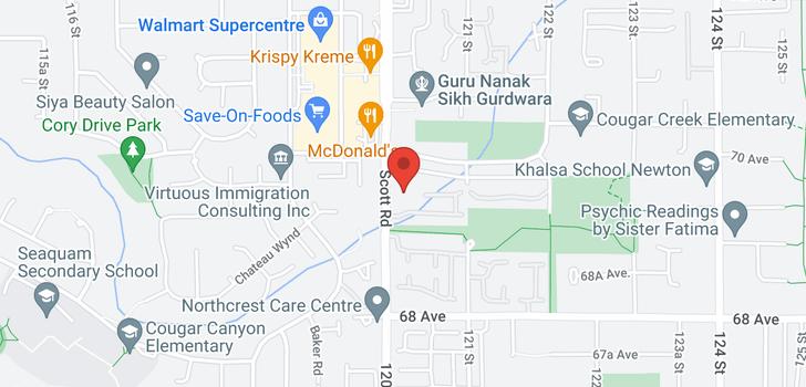 map of 407 6960 120 STREET
