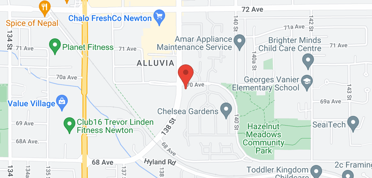 map of 107 13860 70 AVENUE