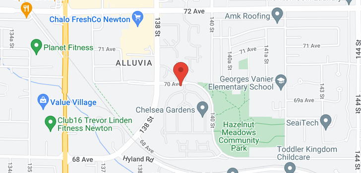 map of 322 13888 70 AVENUE