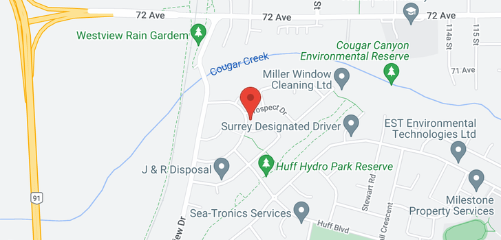 map of 11050 PROSPECT DRIVE