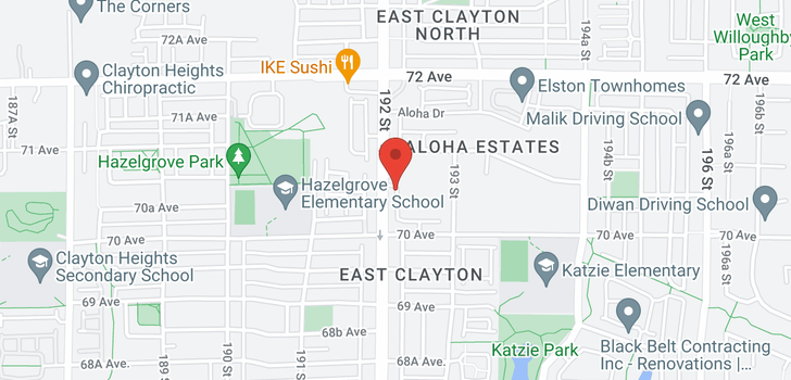 map of 22 7056 192 STREET