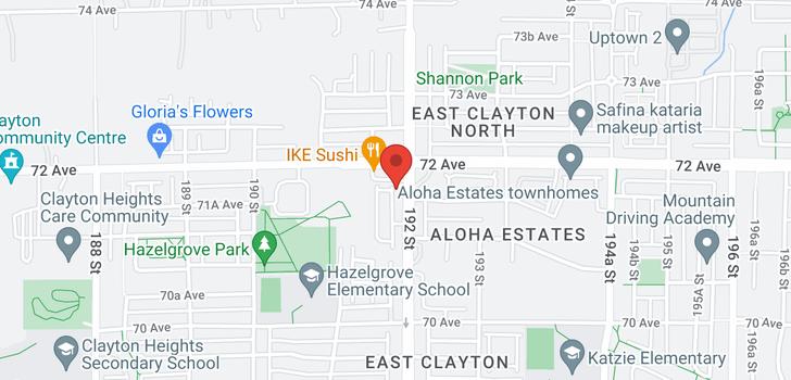 map of 11 7121 192 STREET