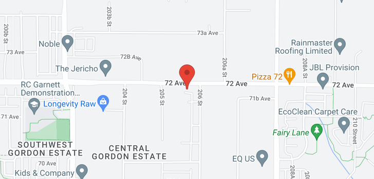 map of 20550 72 AVENUE