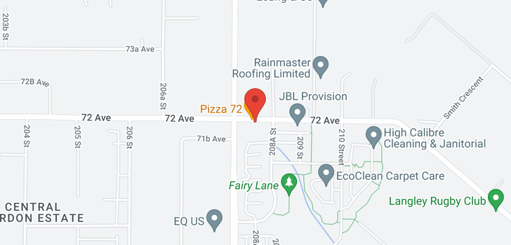 map of 210 20826 72 AVENUE