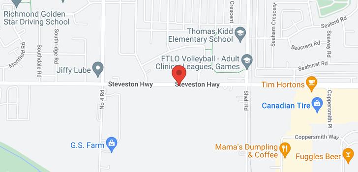 map of 10411 STEVESTON HIGHWAY