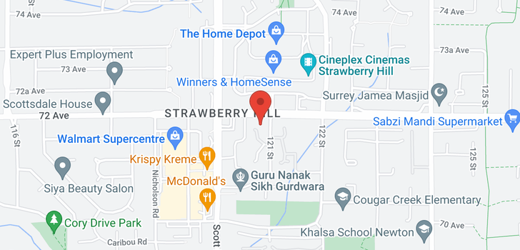 map of 302 7171 121 STREET