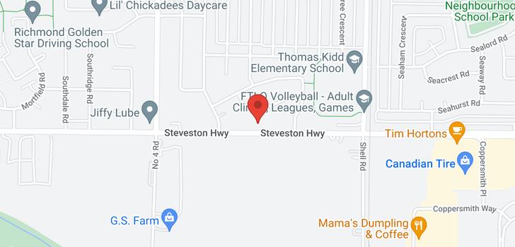 map of 10371 STEVESTON HIGHWAY