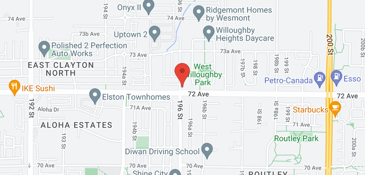 map of 7238 196 STREET