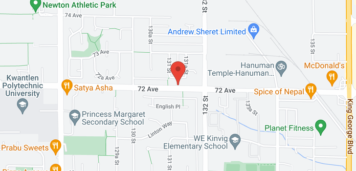 map of 13129 72 AVENUE