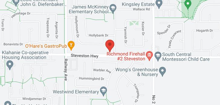 map of 5411 STEVESTON HIGHWAY