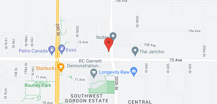map of 7231 202A STREET