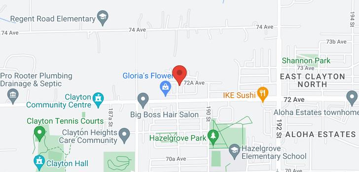 map of 45 7238 189 STREET