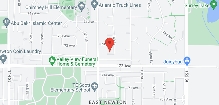 map of 14845 72A AVENUE
